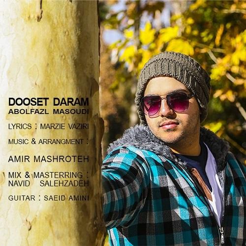 آهنگ جدید ابولفضل مسعودی به نام دوست دارم
