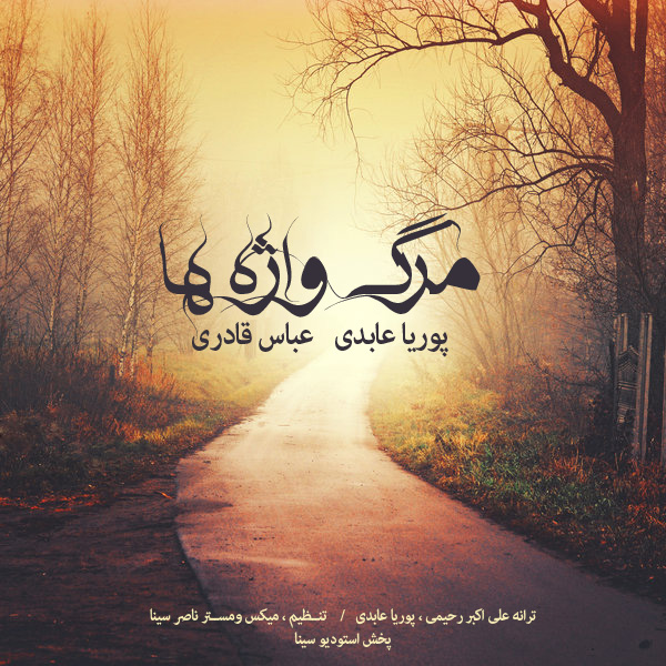 دانلود آهنگ جدید پوریا عابدی و عباس قادری به نام مرگ واژه ها