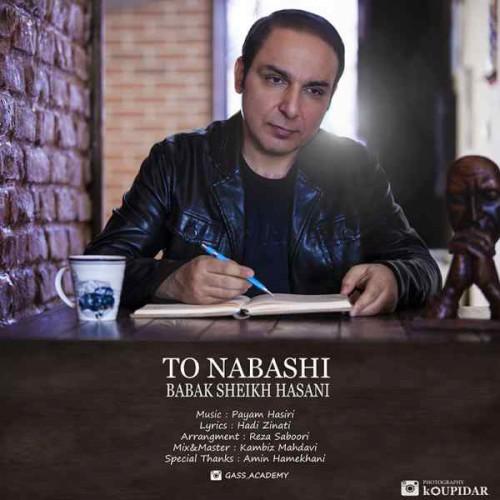 دانلود آهنگ جدید بابک شیخ حسنی به نام تو نباشی
