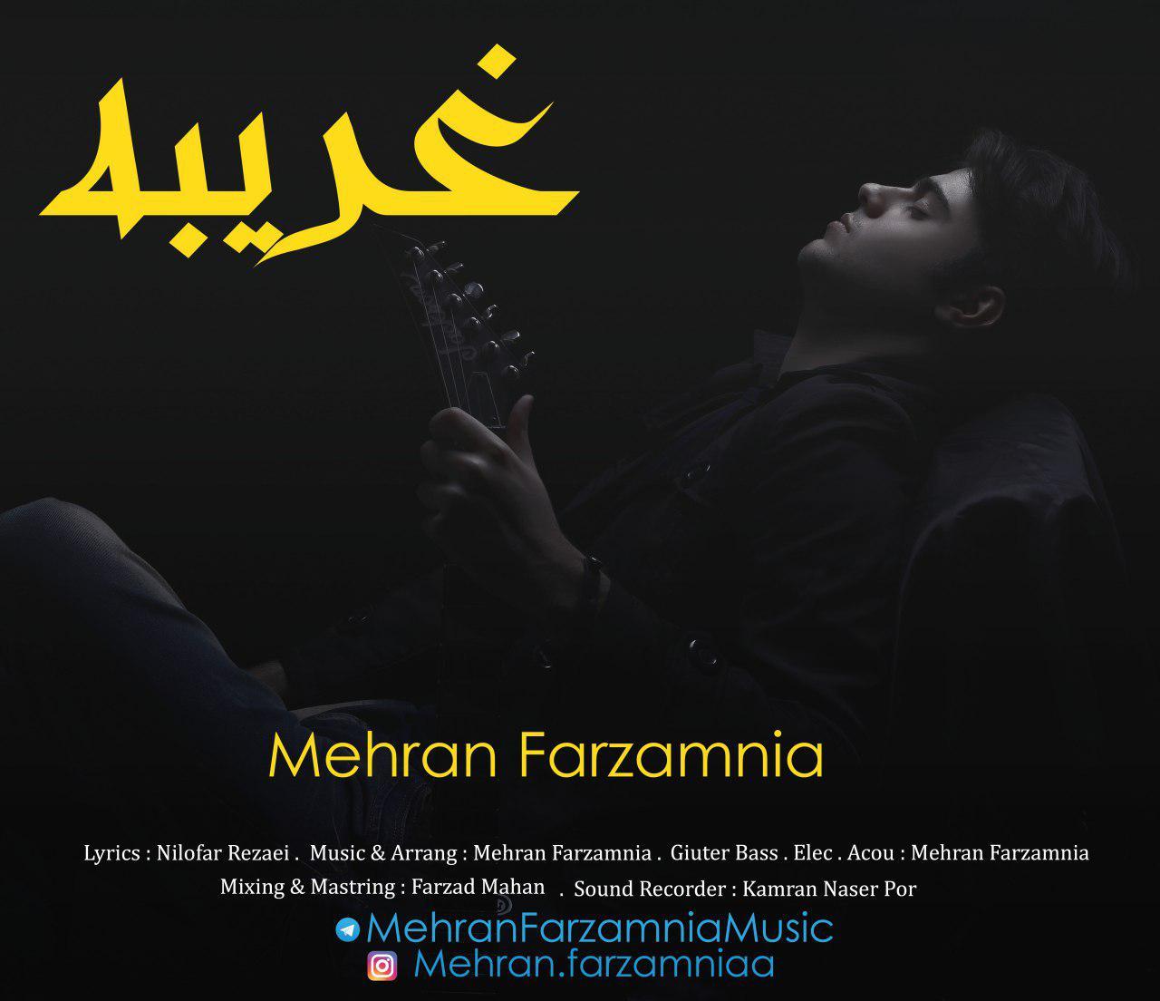 دانلود آهنگ جدید مهران فرزام نیا بنام غریبه