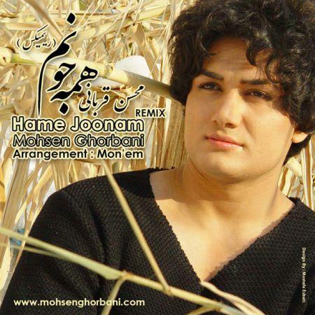 دانلود رمیکس جدید محسن قربانی بنام همه جونم